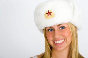 pretty russian blonde girl