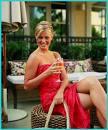 Woman drinking wine 1